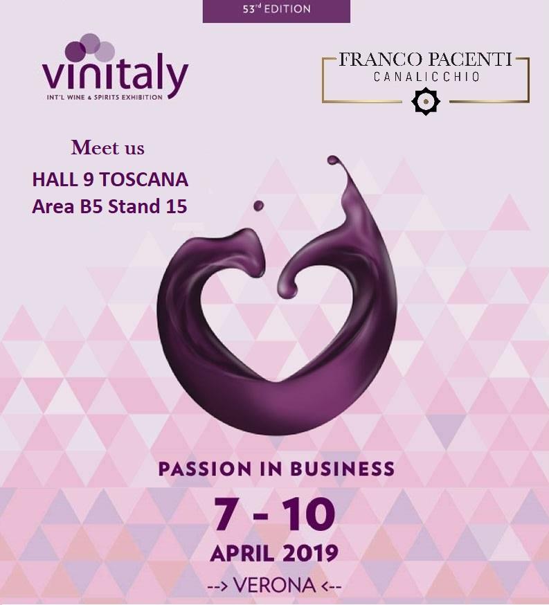 Franco Pacenti – Canalicchio a Vinitaly 2019 con una nuova etichetta