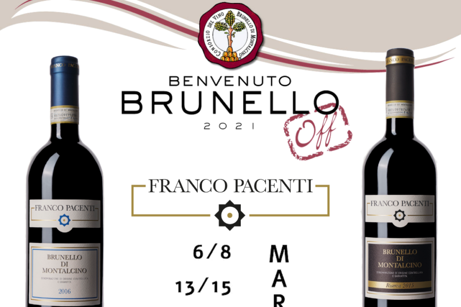 Franco Pacenti is going to bring its five-star vintages to the Benvenuto Brunello Off 2021